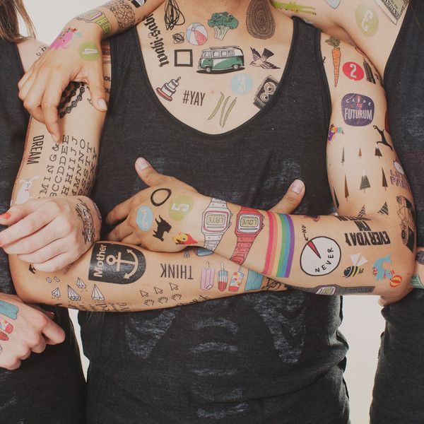 #Tattly tattoos for your bodysuit. Perfect Halloween tip.