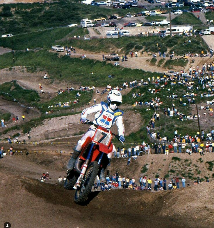 Donnie Holeshot Han sentido Honda CR 250 1982