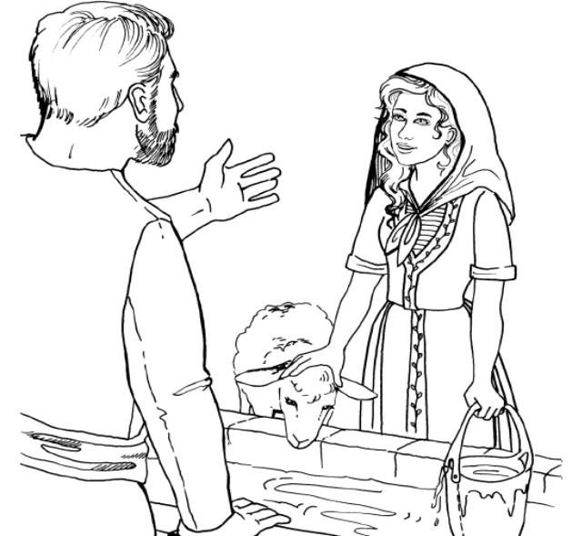 Jacob Meets Rachel Coloring Sheet