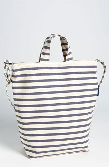 love love love this canvas stripe tote