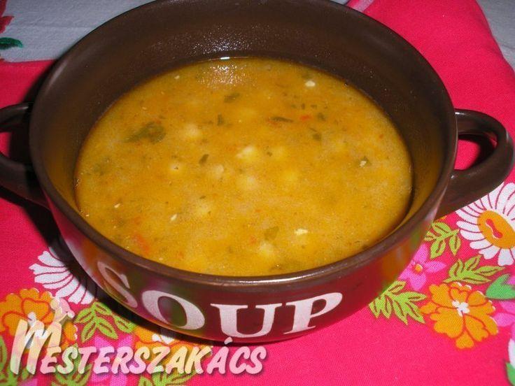 Vöröslencsés csicseriborsó leves recept