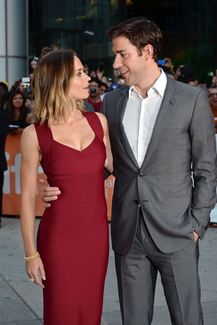 John Krasinski and Emily Blunt...they are so cute.