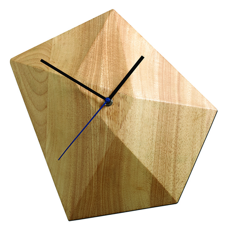 """The """"diamond"""" wood wall clock (http://theprov.in/18eA0CS). Re-pin this image for a chance to win a $1,000 gift card to #BoConcept's Vancouver store. Click the image for entry form and rules or visit: http://theprov.in/BoContest"""