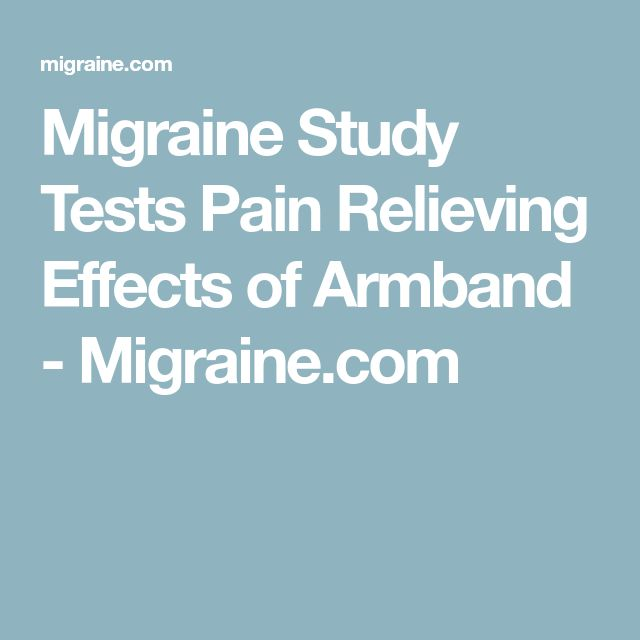 Migraine Study Tests Pain Relieving Effects of Armband - Migraine.com