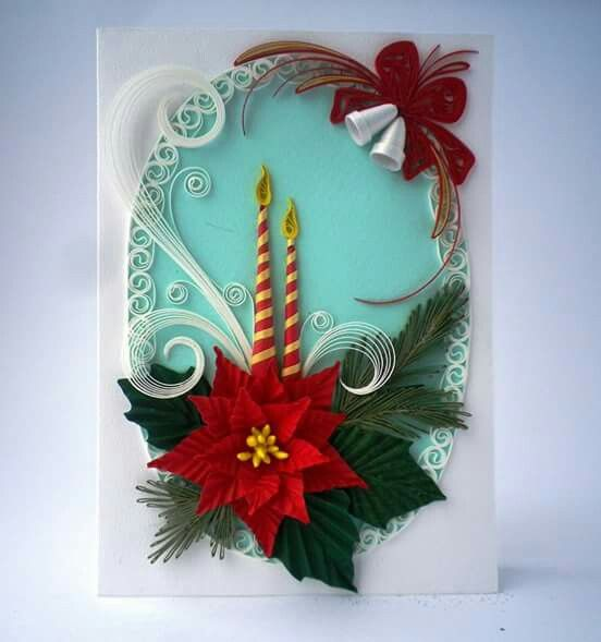 Quilling christmas card quilling pinterest quilling for Deco quilling