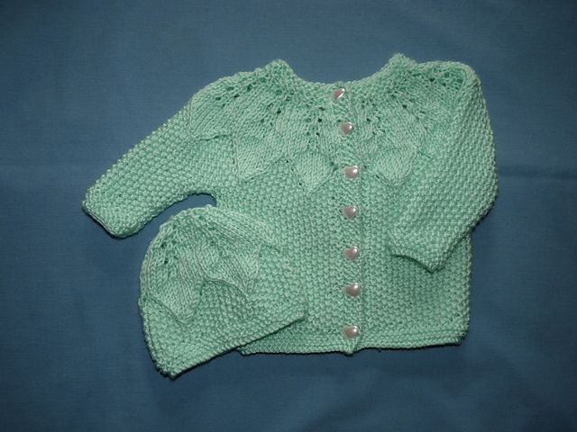 Star Bright Baby Cardigan and Hat by Heather Lodinsky