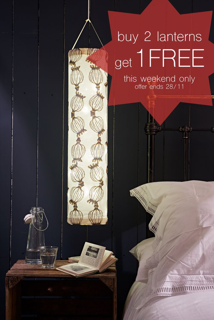 Buy 2 lanterns get 1 FREE! Looking for the perfect gift? Our beautiful fabric lanterns are hand-made in Britain using 100% cotton and create the most magical lighting experience. And since they are powered by batteries they can be hung anywhere to add a cosy glowing touch to any room. All our lanterns come packaged in a beautiful cotton pouch making them the perfect gift this Christmas.