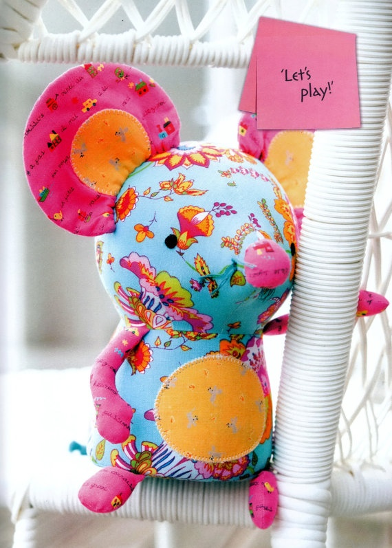 Cheesey Mouse Sewing Doll Pdf E Pattern gift baby toy by wowga, $5.00