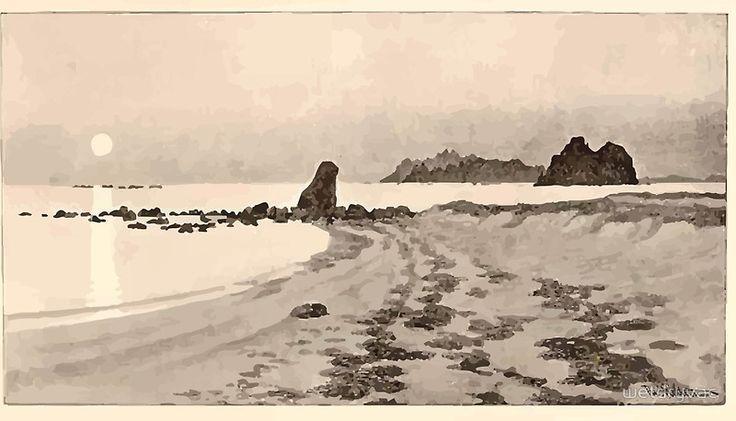 Theodor Kittelsen Summer seascape 1891 by wetdryvac