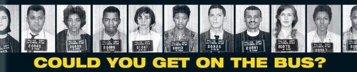 Freedom Ride En 1961 un groupe interracial militant pour les droits civiques a voyagé en bus à travers le sud pour lutter contre la ségrégation. Les noirs s'asseyaient à l'avant, les blancs à l'arrière. Ils ont été attaqués, ils ont reçu des bombes incendiaires, mais ils ont continué. A Montgomery en Alabama, Jim Zwerg s'est proposé pour descendre en premier du bus, en sachant qu'une foule les attendait, il s'est laissé battre presque à mort pour que les autres puissent s'échapper. ..