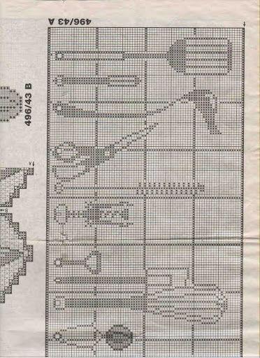 Häkeln & Filethäkeln Gardine Küche - crochet curtain - cortinas
