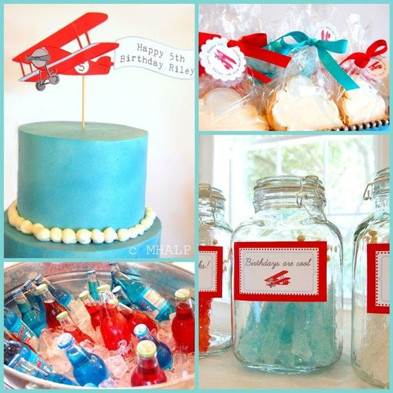 29 best images about airplane birthday party ideas for for Airplane party decoration ideas