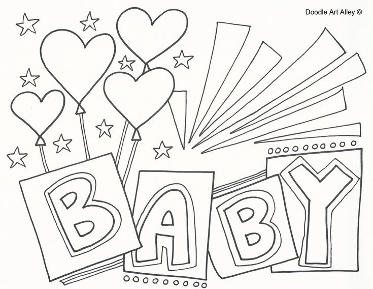online baby coloring pages - photo#35