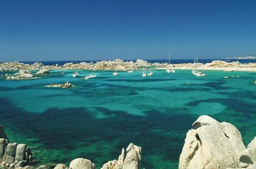 Iles Lavezzi. Lavezzi Island, Corse, France