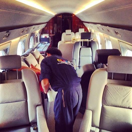 Color Glo can repair and restore aircraft interiors to like new again! #ColorGlo
