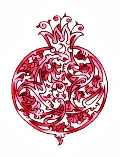 Image result for abstract pomegranate tattoo