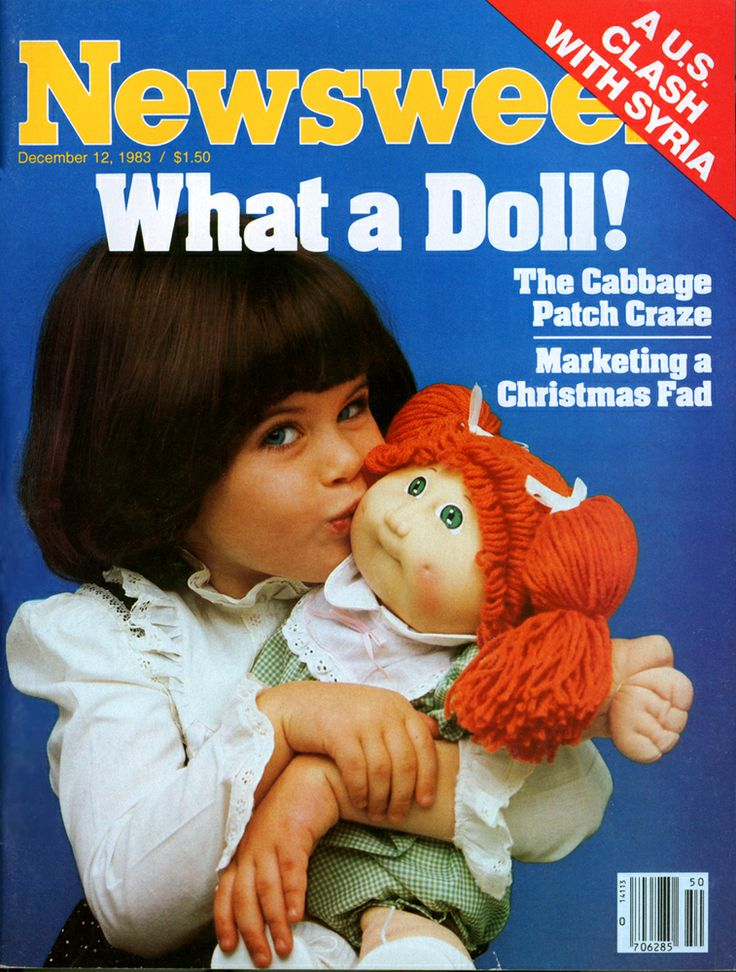 Cabbage Patch Kids 1983  I definitely got a Cabbage Patch kid every Christmas from my Grandmother back in the day.