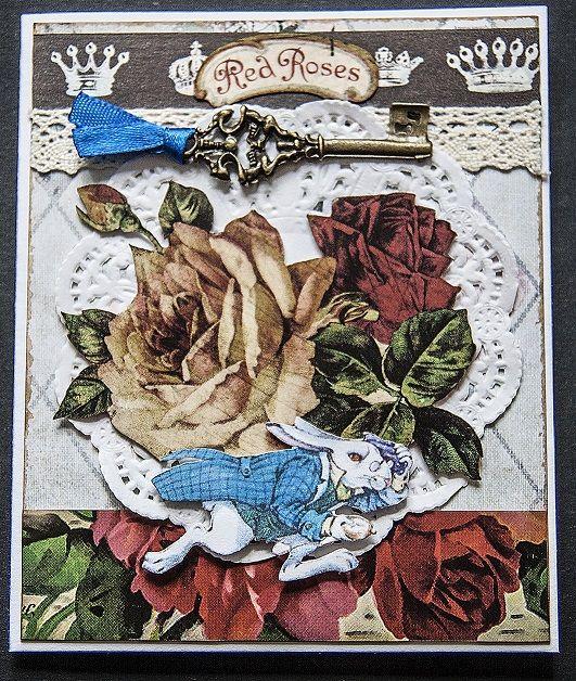 card Alice in Wonderland