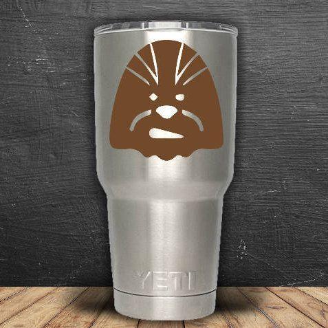 Star Wars Inspired Chewbacca Yeti Decal, Yeti Tumbler Decal, Yeti 30 oz Sticker, Yeti Sticker, Vinyl Decal, Vinyl Sticker, Chewbacca Decal by WendyJDesigns on Etsy