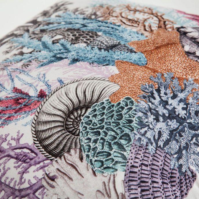 Funda de cojín algodón estampado corales - Cama - Nueva Colección | Zara Home España