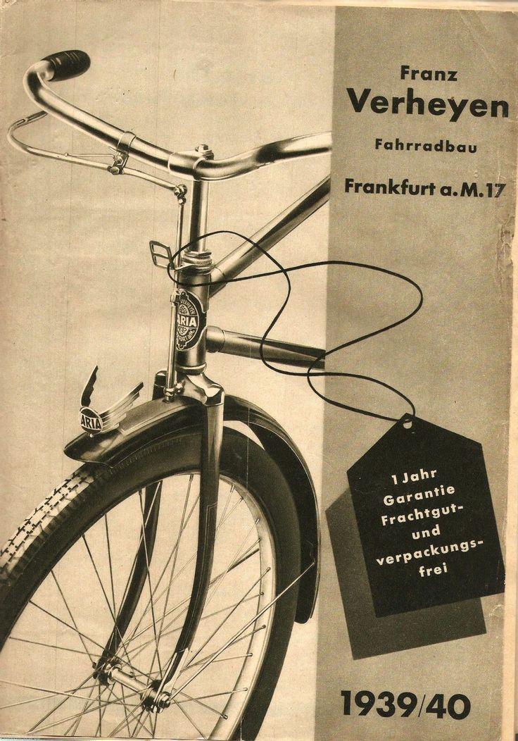 Rarität! Original Fahrrad-Katalog 1939/40 Franz Verhayen, Frankfurt/M.   eBay