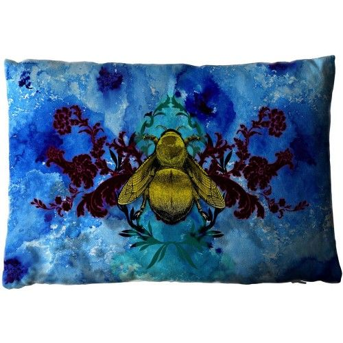 Timorous Blue Blotch Bee Cushion