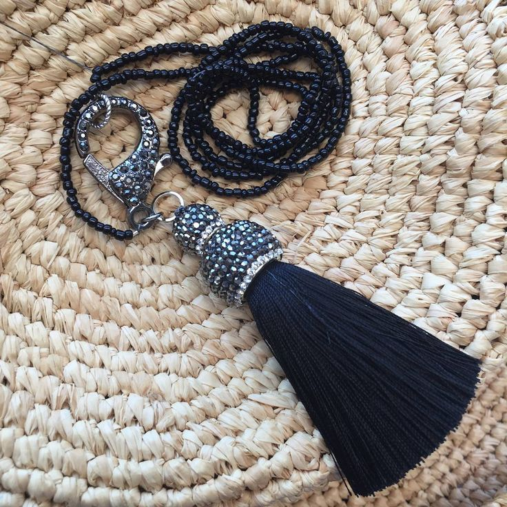Black lobster claw clasp necklace