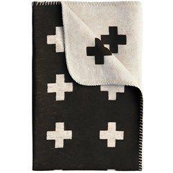 Pia Wallen Cross Blanket Black 160x240