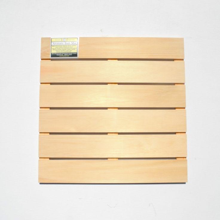 Hinoki Wood Bath Mat | collyersmansion