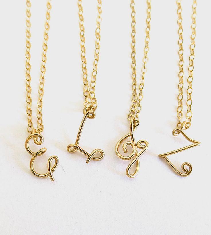 Custom Gold Initial Necklace by Aziza Jewelry on Scoutmob