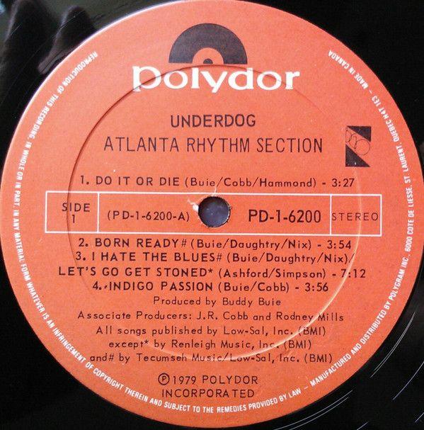 Atlanta Rhythm Section - Underdog: buy LP, Album at Discogs