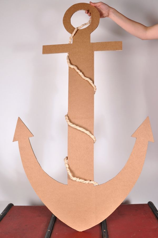 Best 20 anchor crafts ideas on pinterest anchor for Cardboard pirate ship template