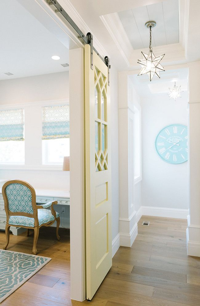 Inspiring Interior Paint Color Ideas   SW Glad Yellow U0026 BM Cool Breeze
