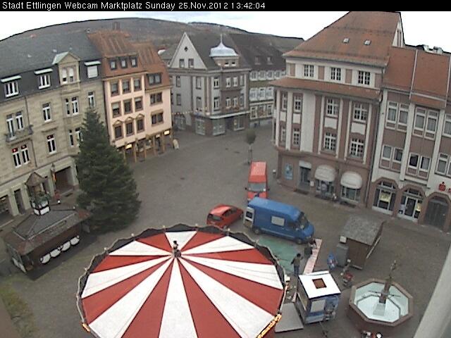 Webcam Marktplatz Ettlingen, Germany.
