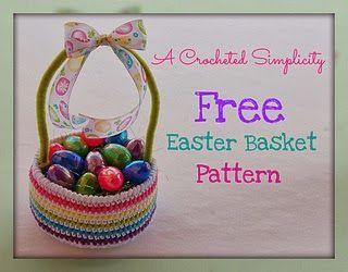 Free Crochet Patterns: Free Crochet Patterns: Easter Baskets