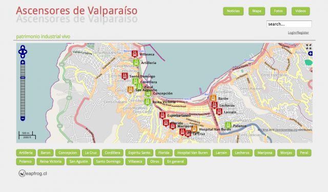Ubicacion mapa Valparaiso
