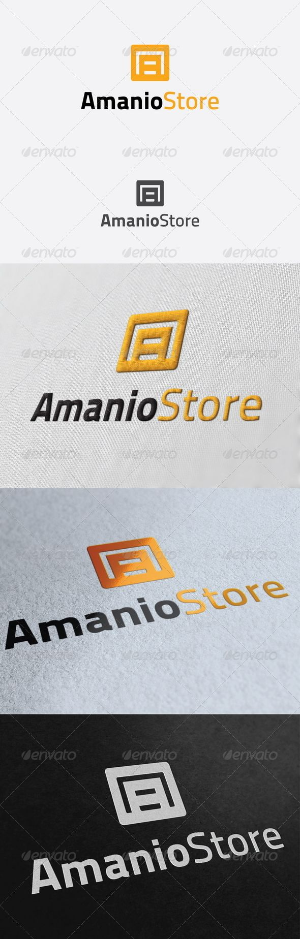 Amanio Store Logo Template 56 best Logo