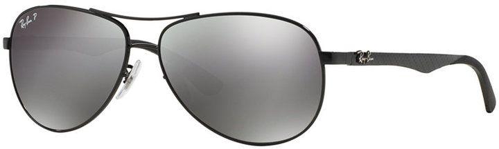 Ray-Ban Polarized Sunglasses, RB8313 61 Carbon Fibre