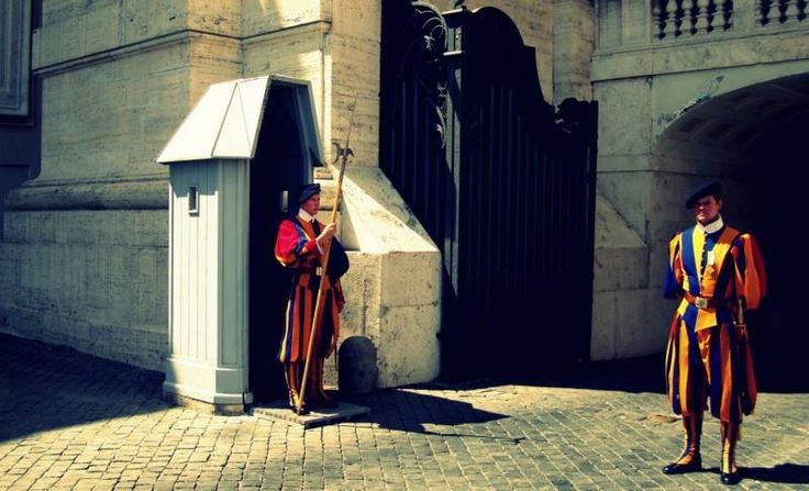 The guards in Vatican
