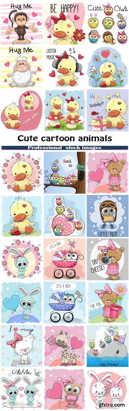 Cute cartoon animals #2