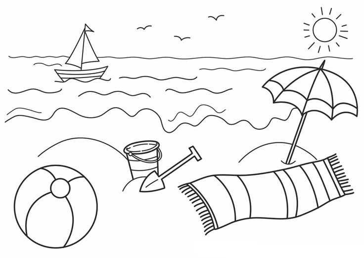 Preschool Summer Safety Coloring Pages