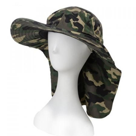 Stylish Camouflage Pattern Sun-Resistant Drawstring Men's Bucket Hat