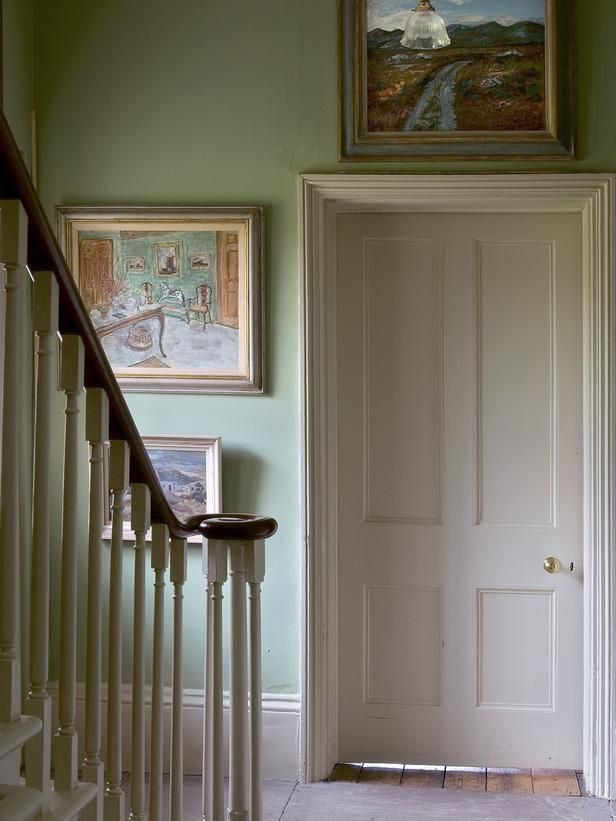 Country Entryways from Tom Helme on HGTV. Farrow and Ball Blue-Gray No 91.