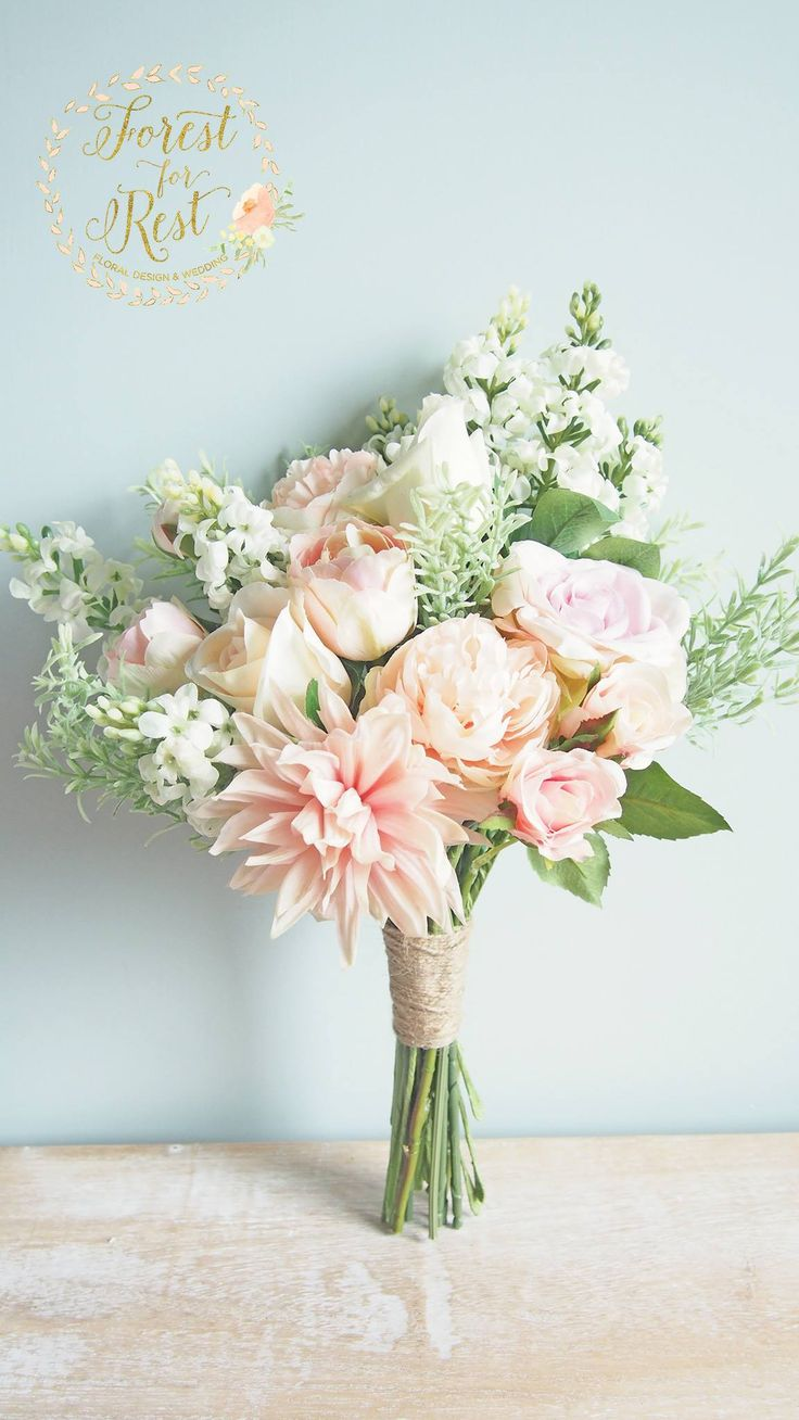 94 best Silk Flower Bouquet 絲花花球 images on Pinterest | Silk ...