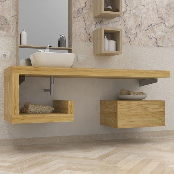 console salle de bain bois massif en 2019 bathroom. Black Bedroom Furniture Sets. Home Design Ideas