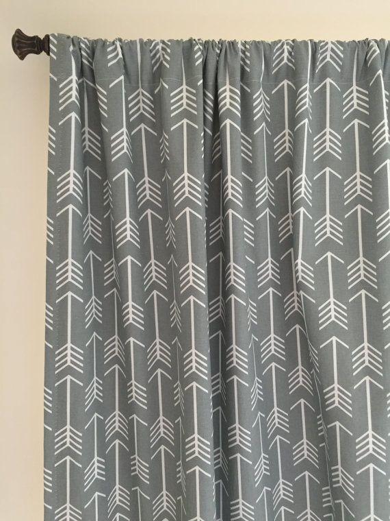 Tribal Curtains Panels Arrow Drapes Feather Curtains Nursery Curtains Mustard Chevron Curtain