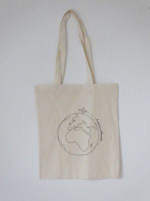 be creative: Jutebeutel verzieren {DIY} / tote bag / world / travel around the world