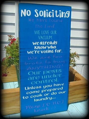 Funny No Soliciting Sign, Bridal Shower Gift, Housewarming Present, Handmade Wooden Sign