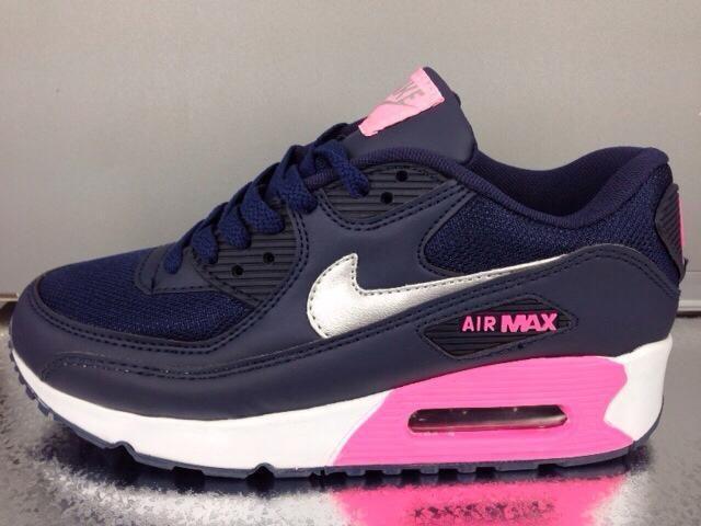 Nike AirMax90 azul/rosa (novo)