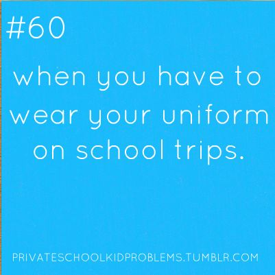 And getting mocked by the schools that don't do uniforms